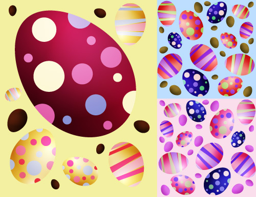 download colorful easter eggs