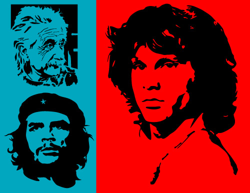 Iconic Characters in Vector