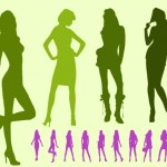 download vector fashion silhouettes