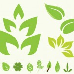 Green Leaf Vector Icons