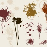 Messy ink stain graphics
