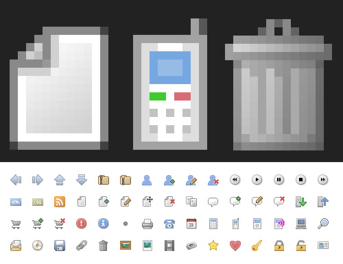 download office pixel icons