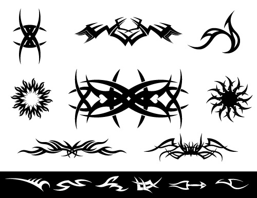tribal tattoo art in vector format
