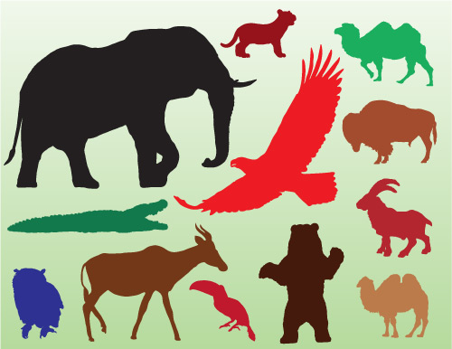 animal silhouettes in vector format - free download