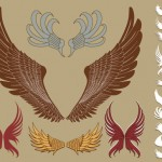 download free wings tribal art in vector format