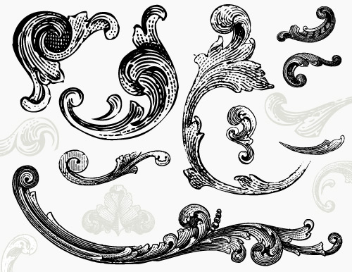 engraved-ornaments-vector