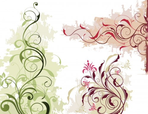 Vector Floral Ornaments and Swirls