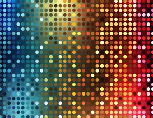 Disco Lights Vector Wallpaper