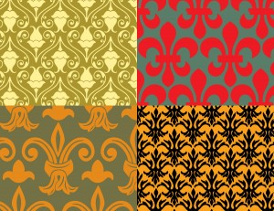 Seamless Floral Patterns Vector Set