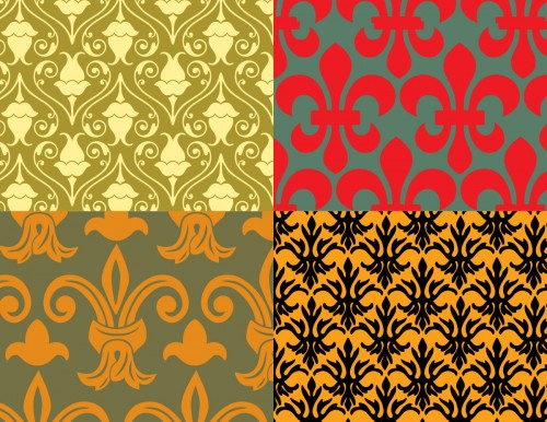 Seamless floral vector pack