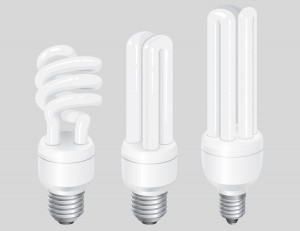 Compact Fluorescent Lamps Vector Graphics