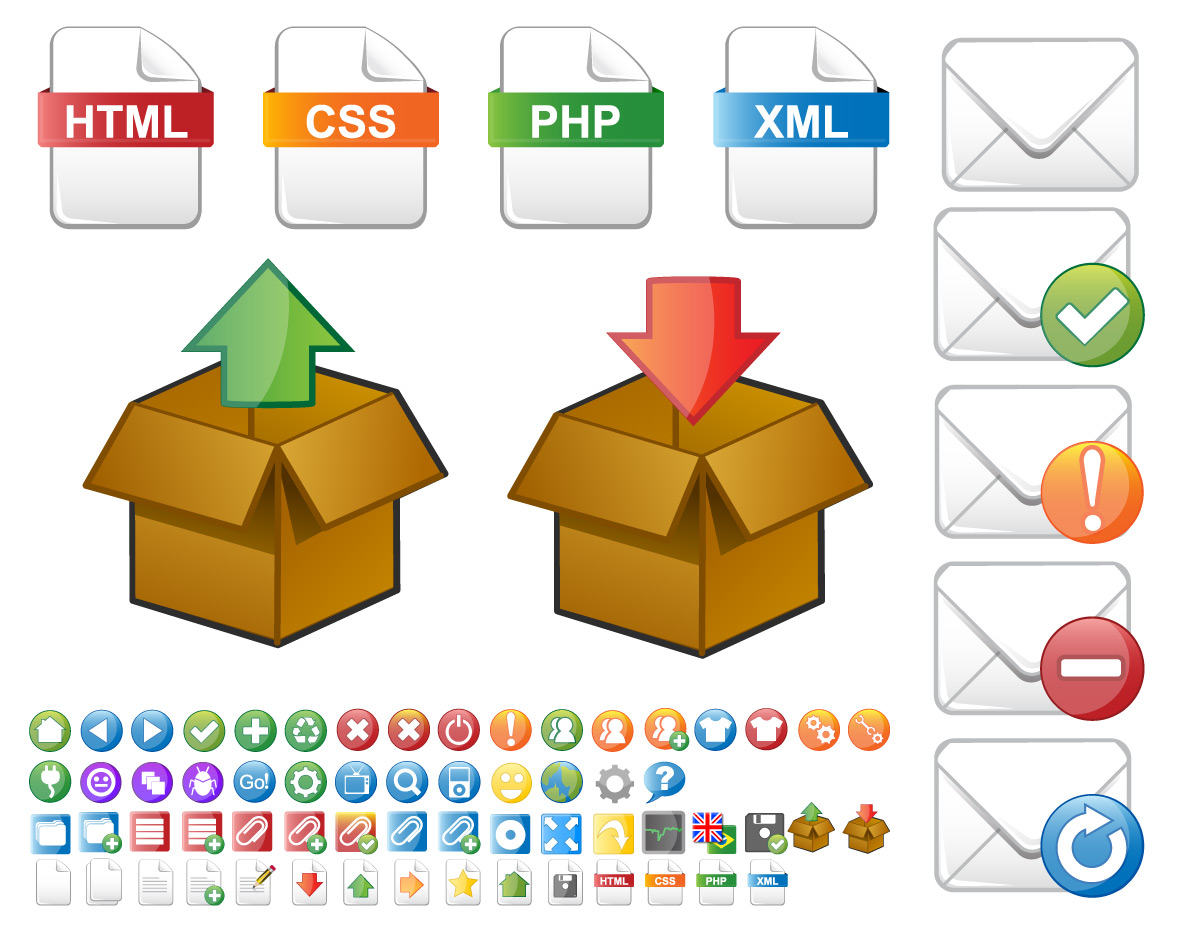 Software icons vector set Vector image software