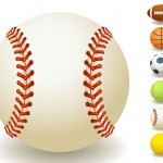 sport team balls vector set