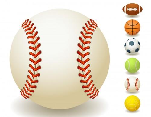 sport team balls vector set