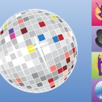 Disco Retro Music Vector Set - Free Clip Art Pack