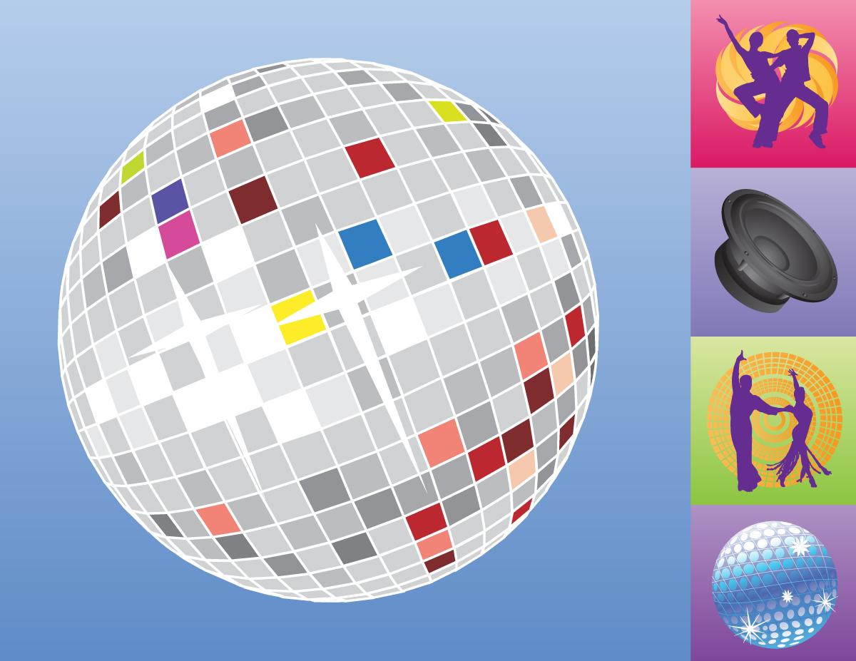 Disco Music Vector Set