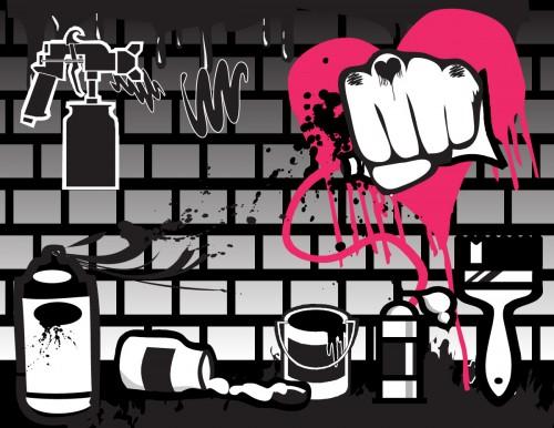 Grafitti Art Materials - Free vector pack