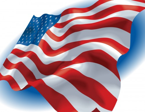 USA American Flag Vector Clip Art