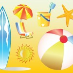 Free Beach Vacation Vector Clip Art
