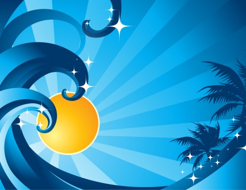 Download Summer Nights Vector Wallpaper
