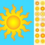 Suns Vector Set - Clipart Pack