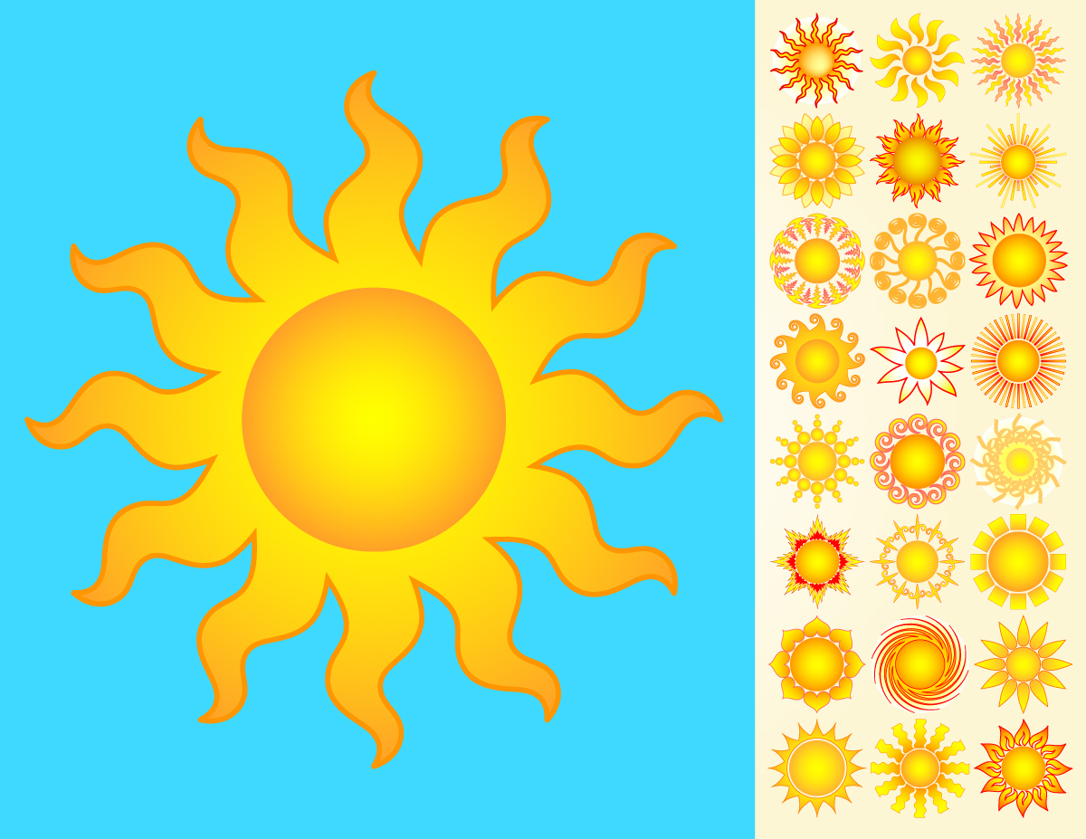 Suns Vector Pack