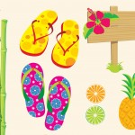 free beach party tropical vector pack