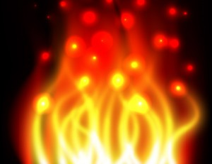 Fire Effects Vector Wallpaper