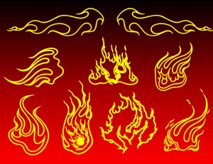 Tattoo Fire Flames Tribal Art Vector Pack