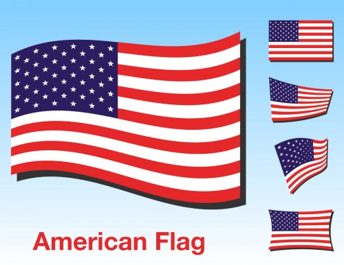 usa-flag-vector-pack