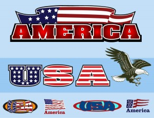 American Flags, Logos and Banners