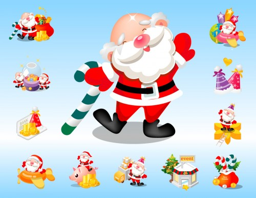 santa-claus-vector-pack