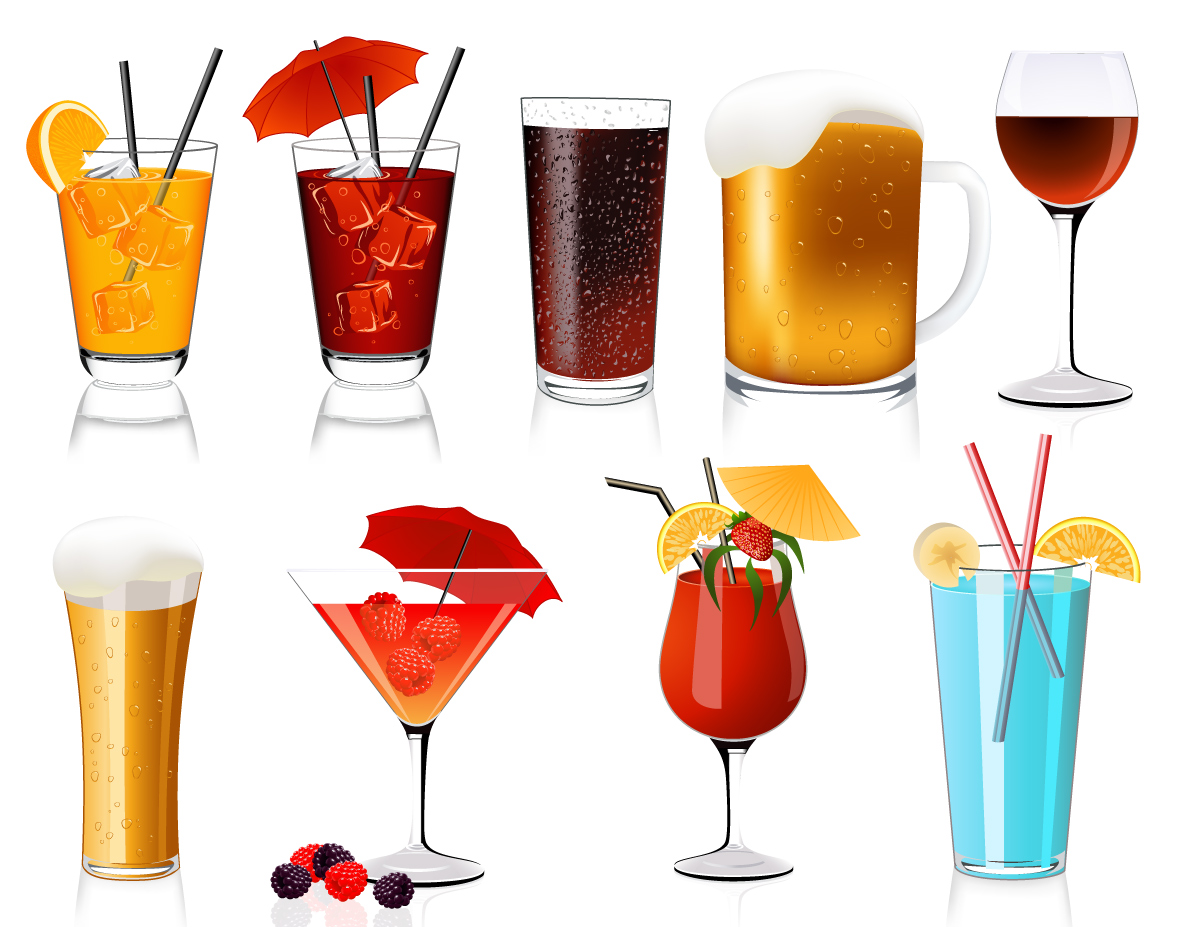 Cocktail tropical drink clip art