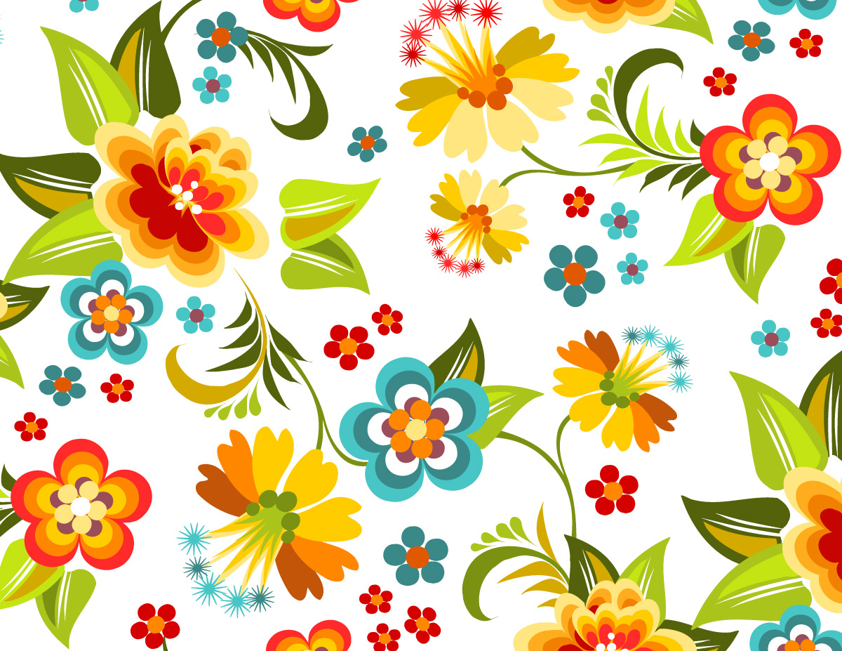 colorful floral background patterns - photo #27