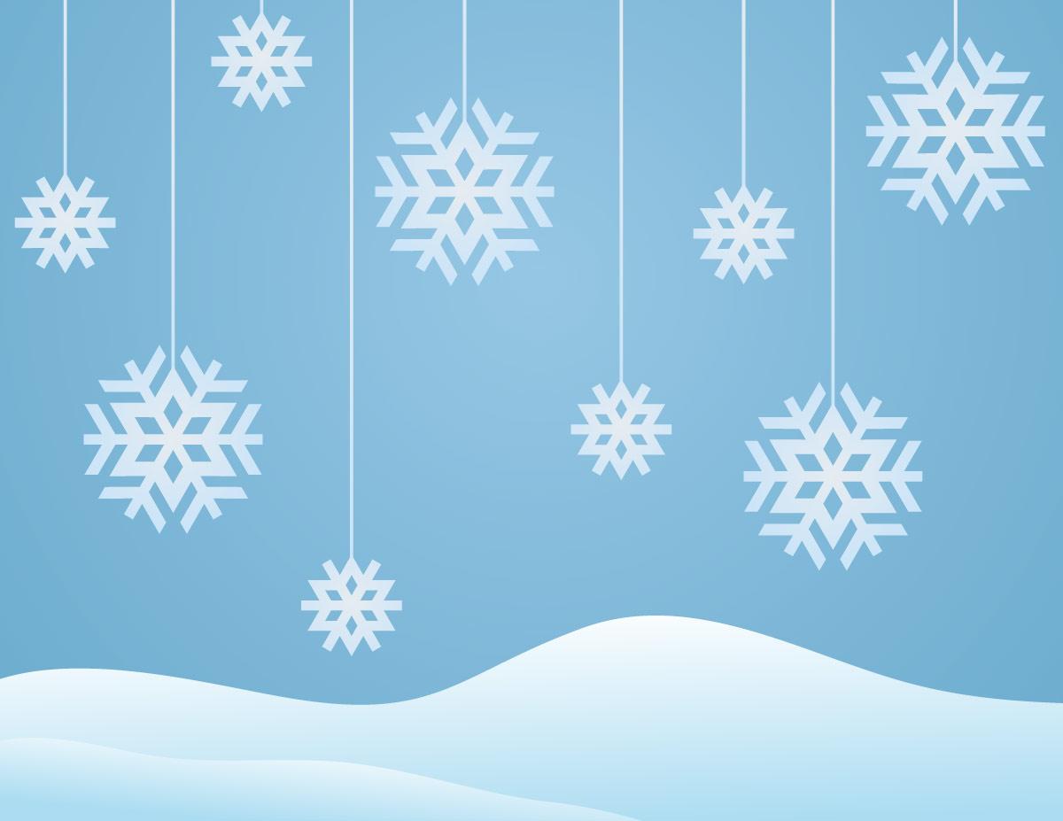 free snow clip art borders - photo #44