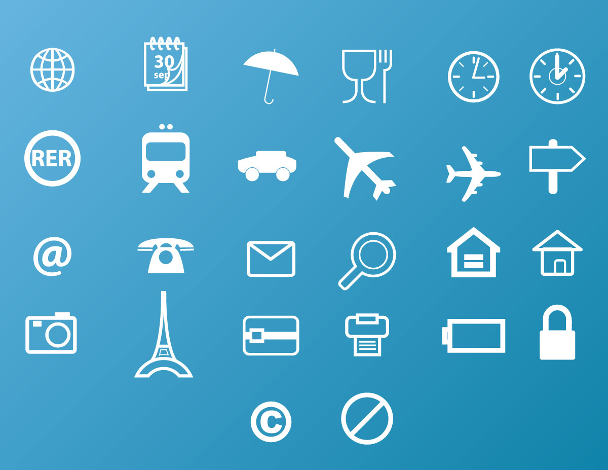 Travel Icons Vector Pack
