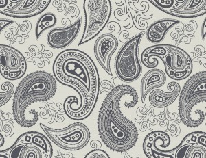 Paisley Seamless Floral Wallpaper