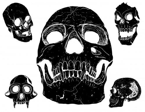 skulls-vector-pack