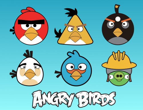 angry birds vector pack