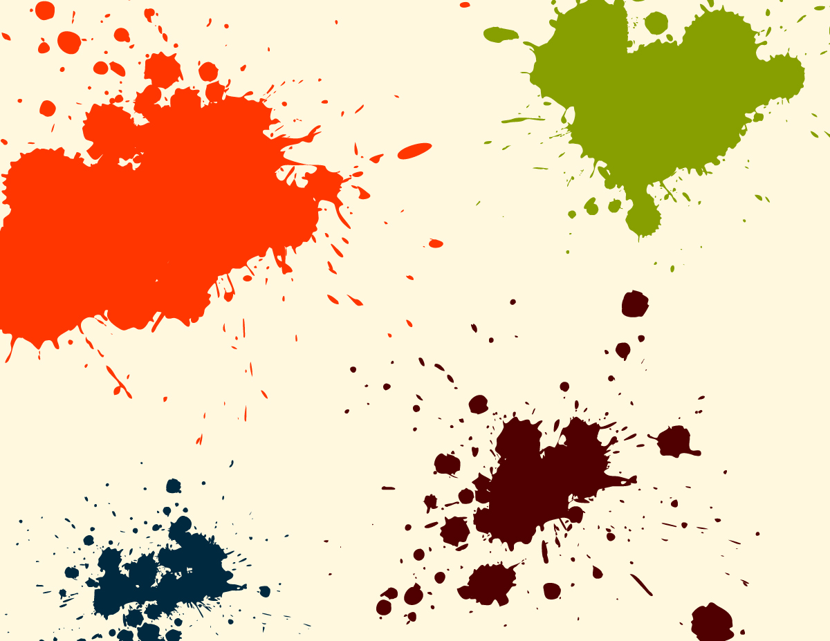Ink Splatter And Paint Drip